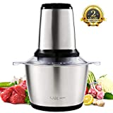 Meat Grinder, NGOZI Food Processor 2L Food Chopper for Baby Food,Meat,Vegetables,Onion, Fruits