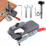 2021 New Hinge Jig, Stainless Steel Cup Style Hinge Jig Boring Hole Drill Guide, Full Set 35mm Hole Opener Hinge Hole Template for Door Cabinets DIY Drilling Tools Set Locator