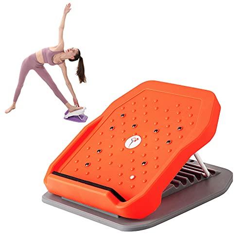 Camelmother Calf Stretcher Slant Board Incline Board Foot Stool Portable Stretch Board,Adjustable 6Level Slant Board (520 lb Capacity) (Gray Orange)