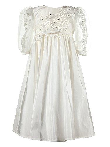 Heritage Christening and Special Occassion wear Annabelle Robe de baptême, Ecru (Antique White 1), 24 Mois Bébé Fille