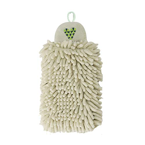 Fineday Quick-Dry Hanging Water-Absorbent Kitchen Towel Creative Chenille Towel, Cleaning Supplies, for Christmas New Year (B)