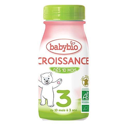 Babybio - Croissance Lait Liquide Bio 25cl De 10 Mois A 3 Ans Babybio