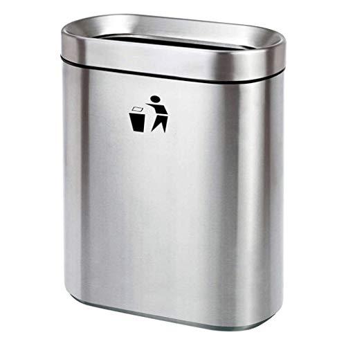 Cubo de basura La basura de acero inoxidable puede Cocina Paso Papelera reciclador de basura al aire libre bote de basura ecológico bote de basura comercial Metro Mall en el Hospital Comercial