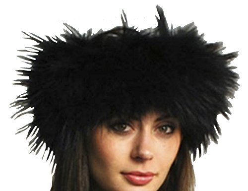 Big Sale SCARF-FUR-FOX HEADBAND from CASHMERE PASHMINA GROUP (BLACK RACCON)