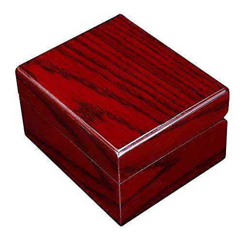 MUY Caja de Madera para Reloj Individual, Brazalete, Pulsera, Caja de Almacenamiento, exhibición de joyería al por Menor, día de San Valentín para Mujeres