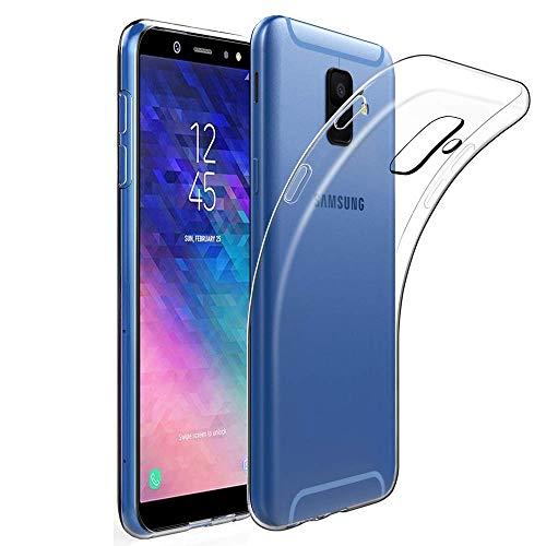 Amonke Hülle Für Samsung Galaxy A6 2018, Silikon Transparent Handyhülle für Samsung A6 2018, Ultra Dünn Durchsichtige TPU Schutzhülle für Galaxy A6 2018 (5,6 Zoll)