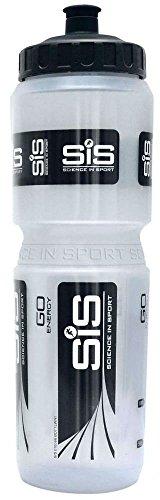 SIS Wide Neck Clear Brand Bottle - Clear/Black, 600ml