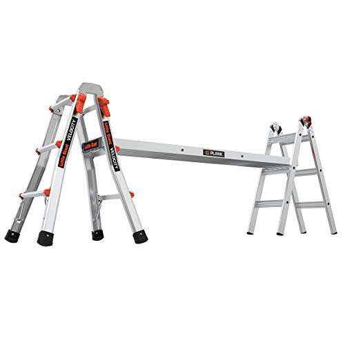 Little Giant Ladders, Velocity with Wheels, M13, 13 Ft, Multi-Position Ladder, Aluminum, Type 1A, 300 lbs Weight Rating, (15413-001)