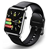 Fitness Trackers with Heart Rate Monitor, Smart Watch, Step Counter, Fitness Watch, 1.4' Touch Screen, Activity Tracker Sleep Monitor IP68 Waterproof Calorie Pedometer Watch for Walking Kids Women Men
