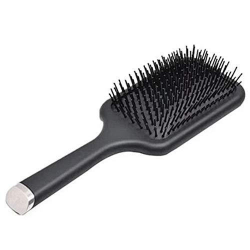 KICCOLY Haarbürste Langhaarbürste, Entwirrungs- und Pflege-Bürste für lange und kräftige Haare, Nylonborsten, schwarz