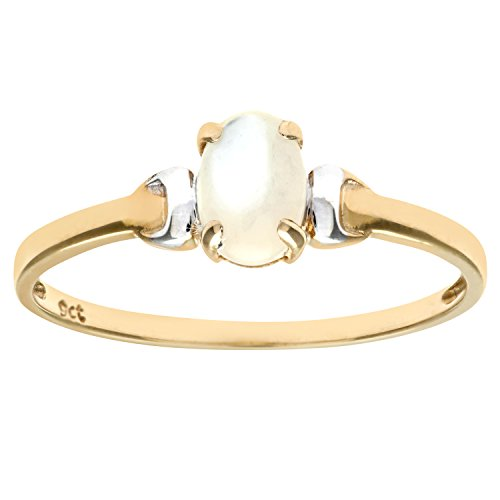 Citerna 9 ct Yellow and White Gold Pearl Birth Stone Ring - Size P