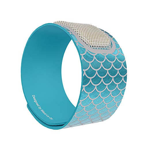 PARA'KITO Mosquito Insect & Bug Repellent Wristband - Waterproof, Outdoor Pest Repeller Bracelet w/ Natural Essential Oils - Gold Edition Party Wristbands (Mermaid Blue)