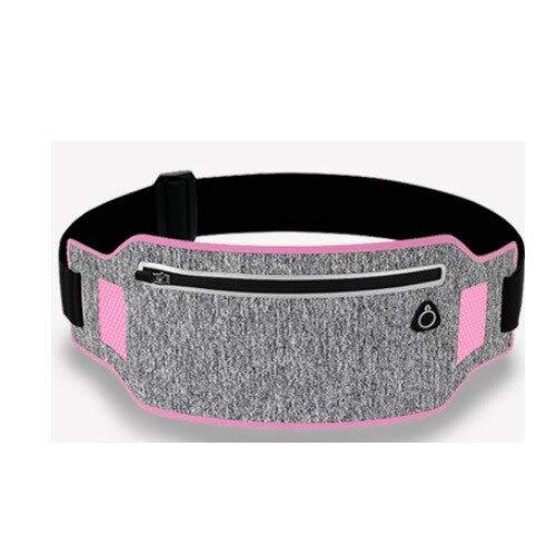 HUUATION Cintura in Vita Cintura in Vita Cintura Sport Cintura per Uso Cellulare Uomo Donna con Sacchetto Nascosto Borse da Palestra Cintura da Corsa(Pink)