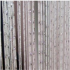 ave split Decorative Door String Curtain Wall Panel Fringe Window Panel Drapes Room Divider Blind Divider Tassel Screen Home 100cm200cm (white1)