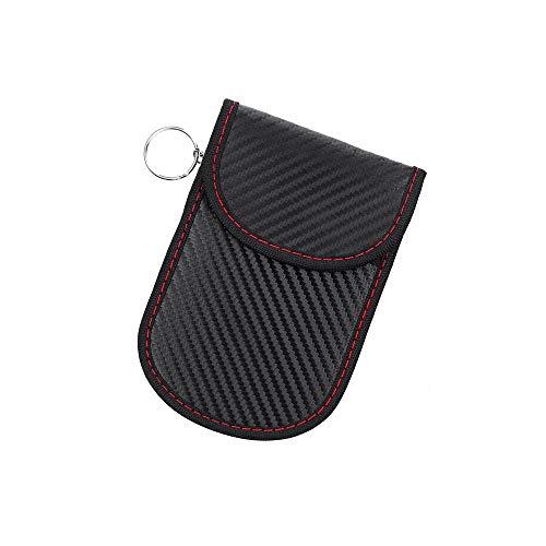 INF RFID Schutztasche für Autoschlüssel, Keyless Autoschlüssel-Etui mit RFID-Schutz, Schlüsseltasche mit Signalblocker, schwarz