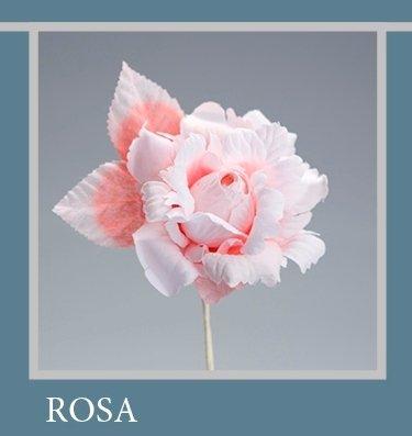 Set 6 pièces, Bonbonnière Fleur Bouquet Rose ad hoc, cm15 x 8 (ck5005-pk6) (Rose)