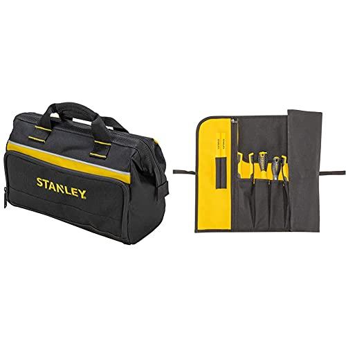 Stanley - 1-93-330 Borsa Porta Utensili, 30 X 25 X 13 Cm, Il Design Può Variare, 1 Pezzo & 1-93-601 Fodero Porta Attrezzi 12 Tasche