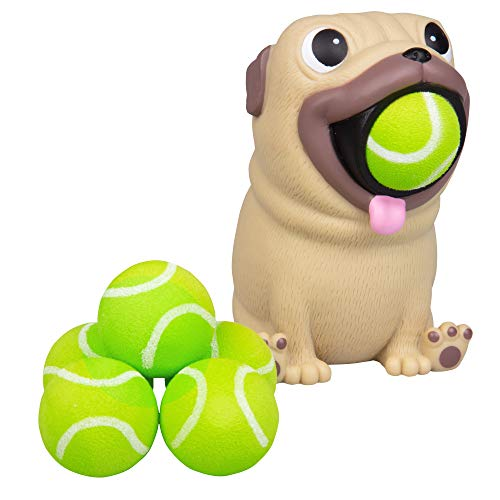 Hog Wild Pug Popper Toy - Shoot Foam Balls Up to 20 Feet - 6 Balls Included - Age 4+