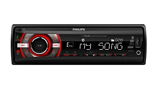 Philips PHICE235BT - Radio para Coche, Color Negro