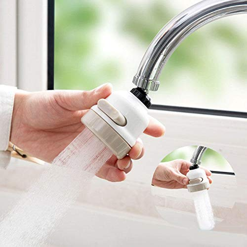 Trihedral 360 Rotary Faucet Booster Wasserfiltergerät 3 Schaltmodi Wassersparendes Hochdruck-Kit Sprühkopf Wasserhähne Küche Badzubehör