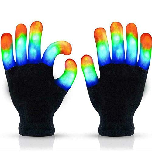 DAGONGJI Guantes con luz LED Intermitente para Dedos, Juguetes Divertidos para niños...