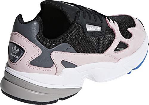 Adidas Falcon W, Zapatillas de Gimnasia Mujer, Multicolor (Black Cblack/Cblack/Ltpink), 36 2/3 EU