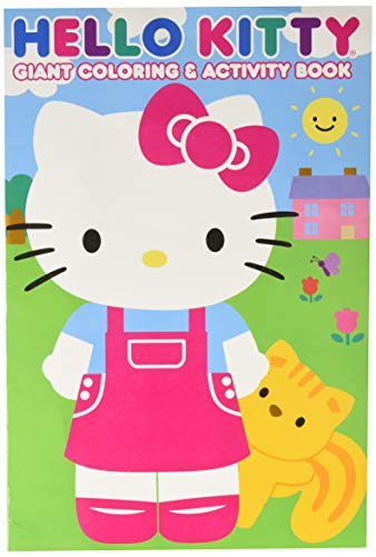 Hello Kitty 28027BW 11x16 Giant Coloring & Activity Book, Multicolor