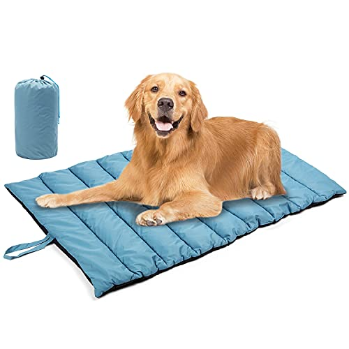 Outdoor Dog Bed Mat for Dog Sleeping - TOYSBOOM Waterproof Portable Dog Travel Bed for Camping, All Season Water Resistant Dog Bed for Large Medium Small Dogs - 44