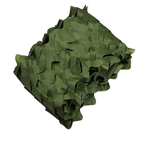Red de sombreado grande, color beige, red de camuflaje militar reforzada, toldo de camuflaje pergola, para sombra de decoración solar caza, camping o (1,5 x 2 m = 5 x 6 ft), color verde