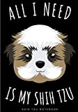 Shih Tzu Notebook: Large Lined Journal For Your Daily To do List Note   100 pages Decorated With Small Dogs Face Designs and Puppy Head Oranement   ... Book Gift to Keep track & Record Information