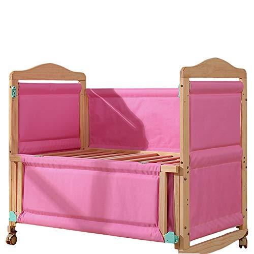 Zatnec Cuna De Madera Cuna Colecho,Cuna De Colecho para Recién Nacidos,Multifuncional Lifting Bracket,Respirable Durable (Color : Pink)
