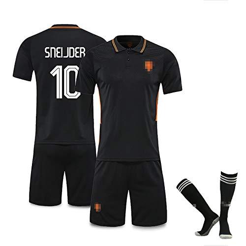FDSEW Niederländisches Fußballtrikot # 9 U.Persie # 10 Sneijder # 11 Robben Heimspiel Fußballtrikot Fußballtrikot + Fußballshorts + Socken Anpassbare Nummern 22 blackNo.10