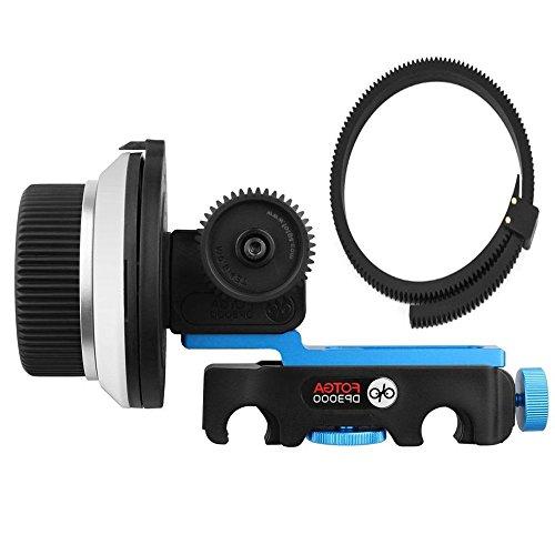 FOTGA DP3000 M2 Follow-Fokus Follow Focus mit A/B Stopp für alle DSLR Digitale Kameras 5D2 5D3 5DIV 60D 650D 7D D90 D7000 D5000 D3100 D850 Panosonic GH3 GH4 GH5 GH5s Sony A7 A7S A7R II III A9 A6300 A6500 Kamera (M3 Quick-release FolLow Focus)