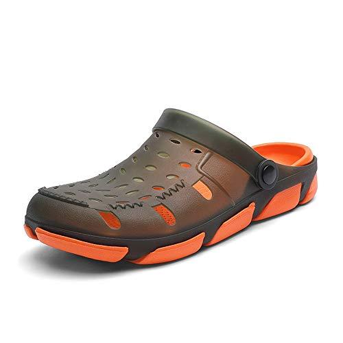 Sandalen ZI LING SCHOENEN Klompen Voor Mannen Outdoor Water Schoenen Ademende Slippers PU Leer Anti-Slip Slip Op Lichtgewicht Ronde Hoofd Waterdicht