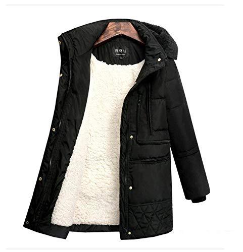 N-B Chaqueta de Abrigo Parka con Capucha de Invierno para Mujer Abajo Abajo Abrigo Grueso de Manga Larga de algodón Chaqueta cálida