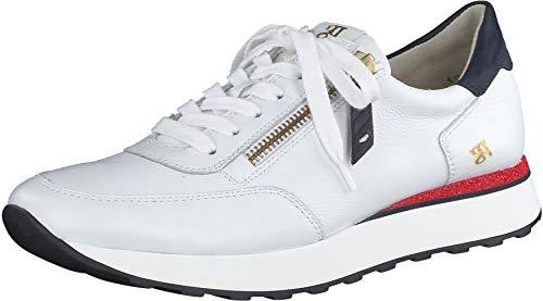 Paul Green Damen SUPER Soft Sneaker, Damen Low-Top Sneaker,Freizeitschuhe,weiblich,Ladies,Women's,Woman,schnürer,Weiß/Blau/Rot (008),39 EU / 6 UK