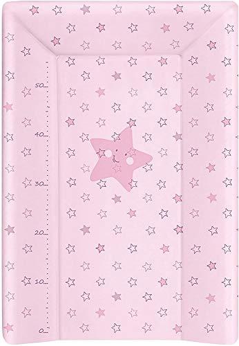BabyCalin BBC510714 Fasciatoio, Stelle Rosa con Barra di Altezza, Rosa, 1 Pezzo, 50 x 70 cm