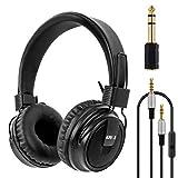 lotmusic Headphones Stereo Headset Foldable Super Bass Full Sized Over-Ear Earphones for PC Phone by Kmise