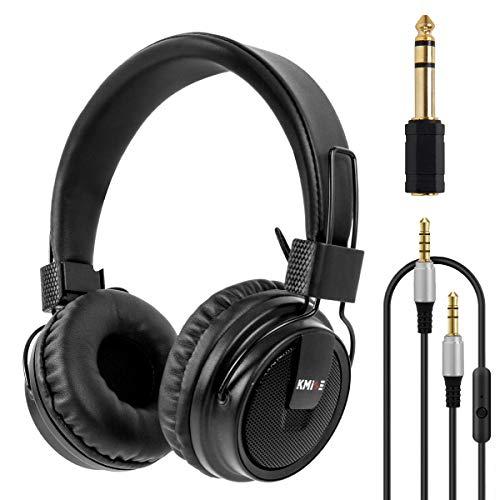 Kmise - Cuffie stereo pieghevoli, over-ear, con bassi potenziati, per PC e telefoni