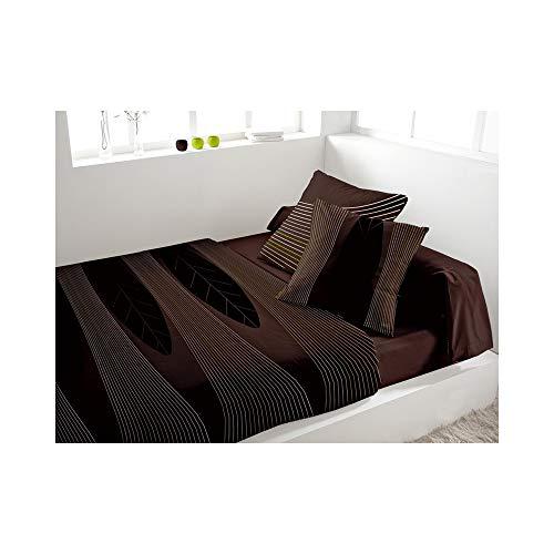 Eden 242316 Parure de Lit 4 Pièces Spirit Chocolat 240 x 300 cm