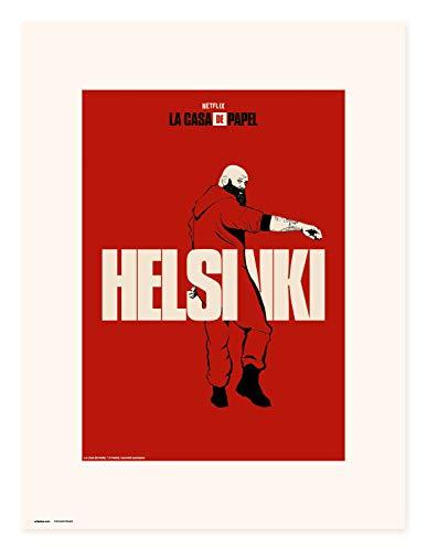 Erik Art Print | Impresin, La Casa de Papel Netflix, Helsinki, 30 x 40 cm