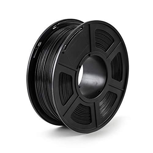 NLLeZ Filamento Stampante 3D 1.75mm 1kg / 2.2lbs PLA PETG TPU Nylon Fibra di Carbonio conduttivo ABS PC Pom ASA Legno Hips PVA filamento di plastica (Colore : PETG Black)