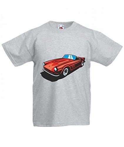Camiseta roja Cabrio Hot Rod Sportwagen Oldtimer Young Timer America Amy USA Auto Car Ampliación V8 V12 Motor Llanta Tuning Mustang Cobra para hombre mujer niños de 104 – 5XL gris Para Hombre Talla : Large