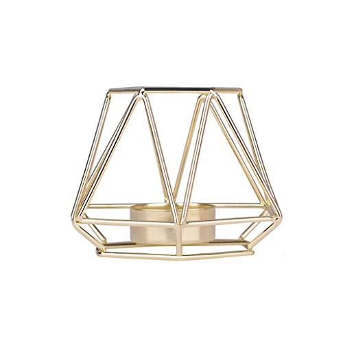 Igemy Nordischen Stil Schmiedeeisen Geometrische Kerzenhalter Dekoration Metall Handwerk (Gold S)