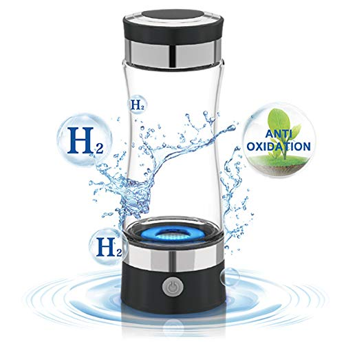 HEN'GMF Portable Hydrogen-rich Water Glass, Rechargeable Ion Water Generator, Hydrogen-rich Water Cup Generator, Anti Aging Antioxidant Glass Bottle