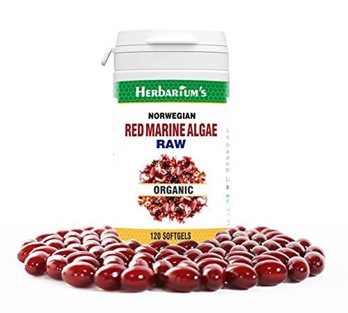 Organic Norwegian Red Algae, Very Potent, Contains Raw Extract, 120 Soft Capsules