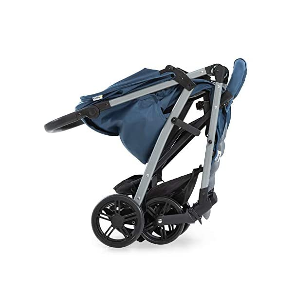 Hauck Rapid 4, 0 Months to 22 kg, Foldable, Compact, with one Hand, with Sleep Position, Height Adjustable Handle, Large Basket - denim/grey, Rapid 4, Up to 25 Kg Hauck Easy folding this pushchair is as easy to fold away as possible - the comfort stroller can be folded with one hand only within seconds, leaving one hand always free for your little ray of sunshine Long use this buggy can be used for a very long time. it is suitable from birth (also compatible with 2in1 carrycot or comfort fix infant car seat) up to a maximum of 22kg Comfortable back friendly push handle adjustable in height, the hood extendable; suspension, swivelling front wheels, soft padding, and large shopping basket 20