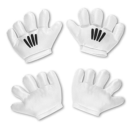 Widmann 04119 Cartoon-Handschuhe, Unisex– Erwachsene, weiß, Unica
