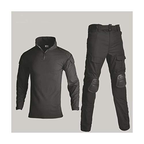 YUANYUAN520 Taktische Weste, Militär-Uniform, Hemd + Hose mit Knie- und Ellenbogenschonern, für Paintball, taktischer Ghillie-Anzug, Tarnmuster, Jagdkleidung (Farbe: Grün Camo, Größe: XXXL)