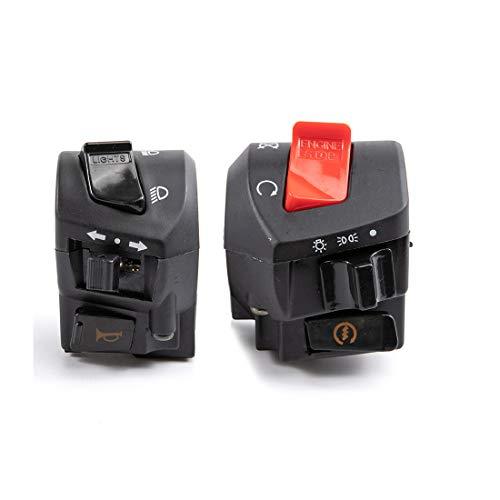 Interruptor de control universal del manillar de la motocicleta 12V 7/8 Interruptor de arranque eléctrico del faro de la bocina de la motocicleta
